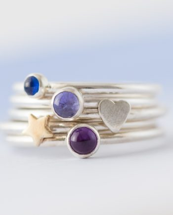 Birthstone stacking ring 0205