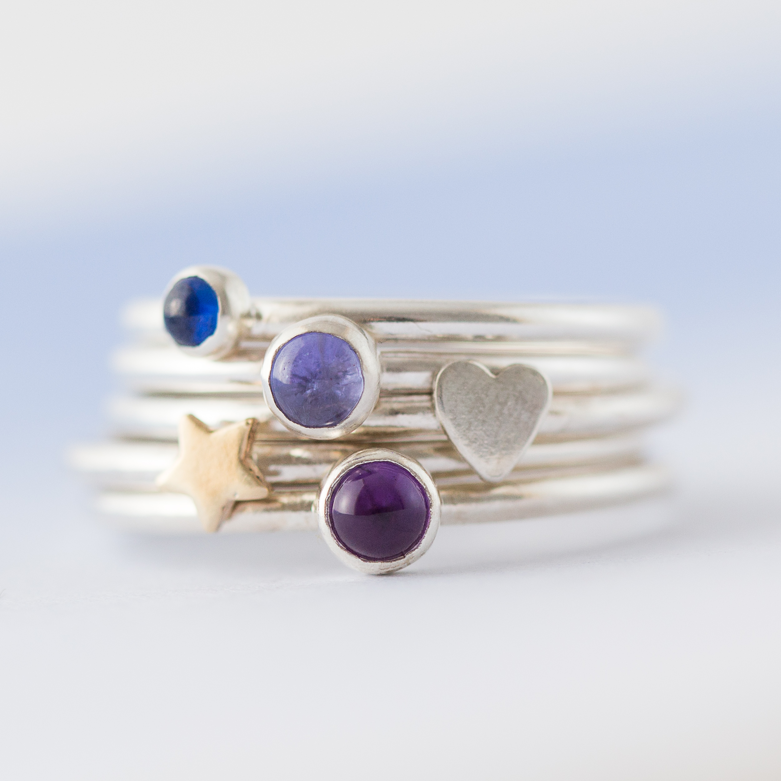 website stacking rings ring simply product birthstone february little lss star silver