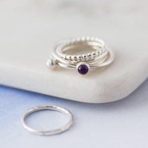 Birthstone stacking ring 0269