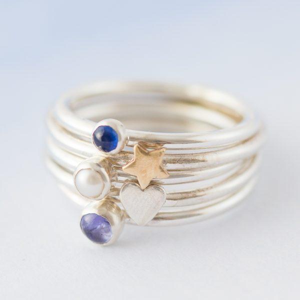 Birthstone stacking ring 185