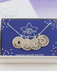 personalised necklace on card