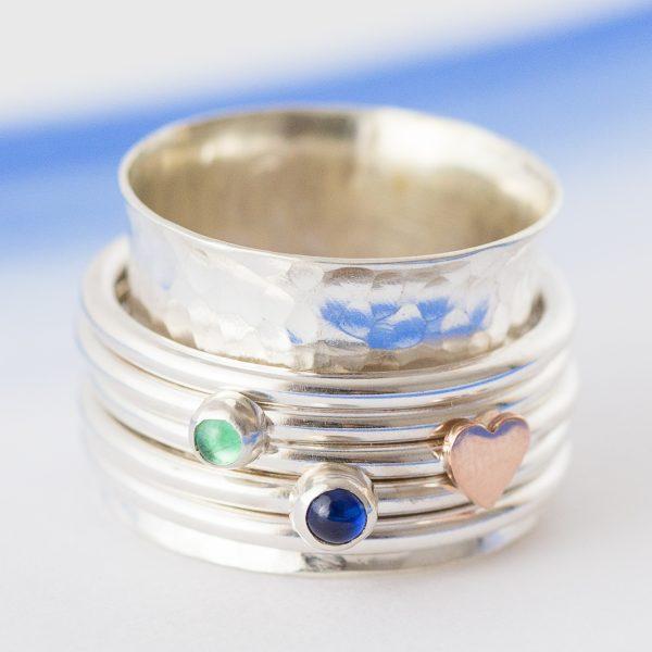 birthstone spinner ring 0716