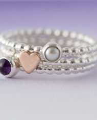 LSS_beaded birthstone stacking ring-0293