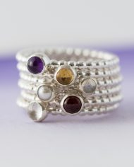LSS_beaded birthstone stacking ring-272