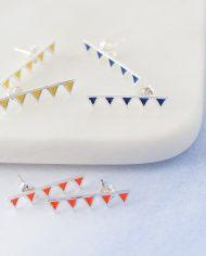 LSS=bunting stud earrings-694