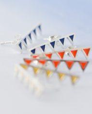 LSS=bunting stud earrings-750
